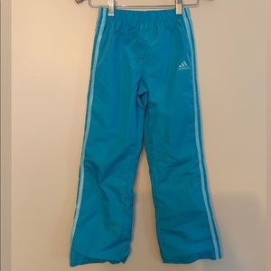 Blue Adidas Wind Pants Kids Size 6X